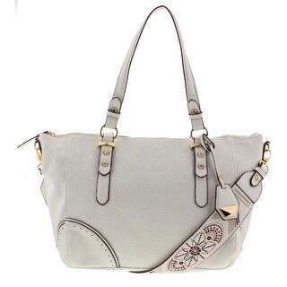 Jessica Simpson Womens Lani Satchel Handbag Faux Leather Convertible - LARGE