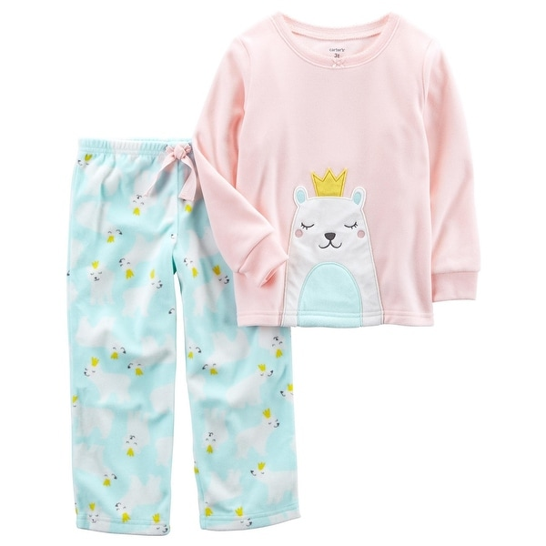 9aa172b0c2 Shop Carter s Little Girls  2-Piece Polar Bear Fleece PJs