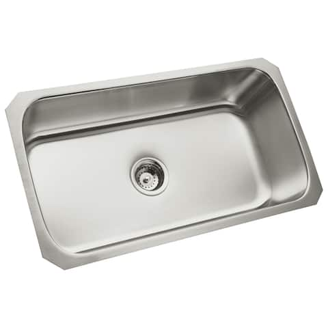 "Sterling 11600 McAllister 32"" Single Basin Undermount Stainless Steel Kitchen Sink with SilentShield - Stainless Steel"