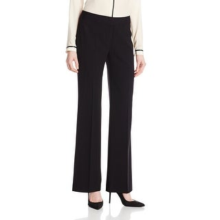 Nine West Women's Black Size 10 Flare Leg Modern Dress Pants Stretch