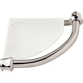 """Delta 41316 8-3/4"""" Corner Shower Shelf with Assist Bar, Traditional Design"""