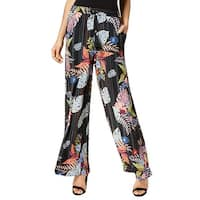 NY Collection Black Women's Size Small S Stretch Tropical Pants
