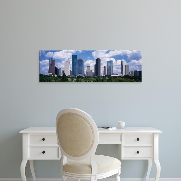 Easy Art Prints Panoramic Images's 'Buildings in a city, Houston, Texas, USA' Premium Canvas Art