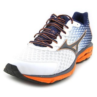 Mizuno Wave Rider 18 Men 2E Round Toe Synthetic Multi Color Running Shoe