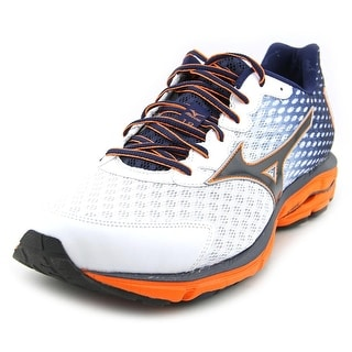 Mizuno Wave Rider 18 Men  Round Toe Synthetic White Running Shoe