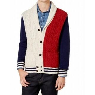Tommy Hilfiger Mens Shawl Collar Wool Sweater