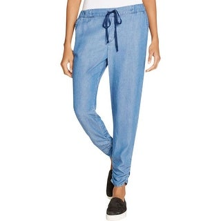 Splendid Womens Casual Pants Chambray Ruched Ankle