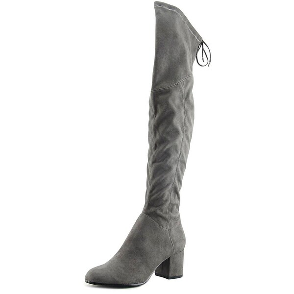 Ivanka Trump Kellyn Women Round Toe Canvas Gray Over the Knee Boot