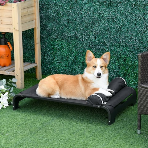 PawHut Elevated Dog Bed w/ Removable Pillow for Small and Medium Sized Dogs