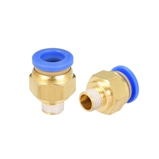 "10 Pcs 1/8"" G Male Straight Thread 8mm Push In Joint Pneumatic Quick Fittings - 5/16"" OD x 1/8"" G"