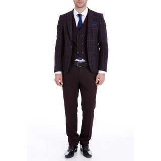 Wessi Jordan Suit in Burgundy
