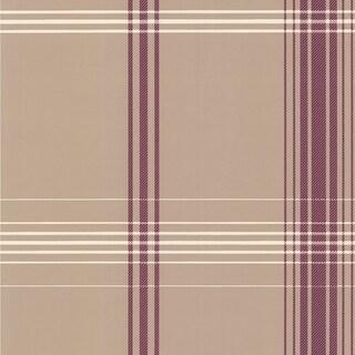 Brewster DL30475 Oskar Purple Plaid Wallpaper