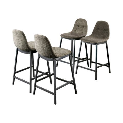 Furniture of America Brno Mid-Century Grey Counter Chairs Set of 4
