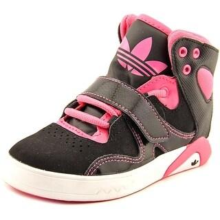 Adidas Roundhouse Mid Round Toe Synthetic Basketball Shoe