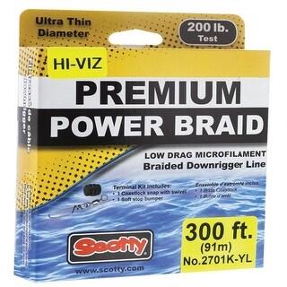Scotty Premium Power Braid Downrigger Line Hi-Vis Yellow Downrigger Line