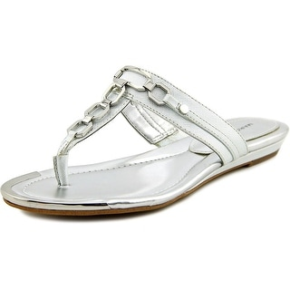 Marc Fisher Myrissa Open Toe Synthetic Thong Sandal