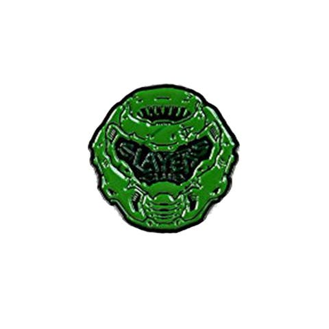 Doom Eternal Slayer & Logo Pin Set Exclusive Enamel Collector Pins Set Of 2 - Multi-Colored