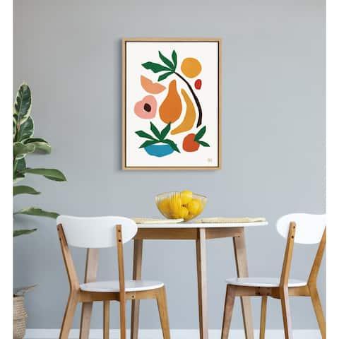 Kate and Laurel Sylvie Fruit Fiesta Framed Canvas by Maggie Stephenson
