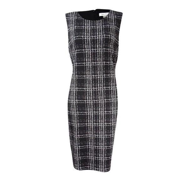 e1b57f14 Shop Calvin Klein Women's Petite Matelasse Plaid Sheath Dress - On Sale - Free  Shipping Today - Overstock - 19757274