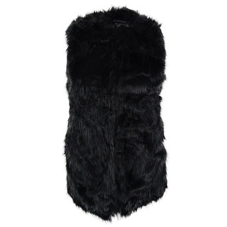 Bar III Women's Long Faux Fur Vest - m