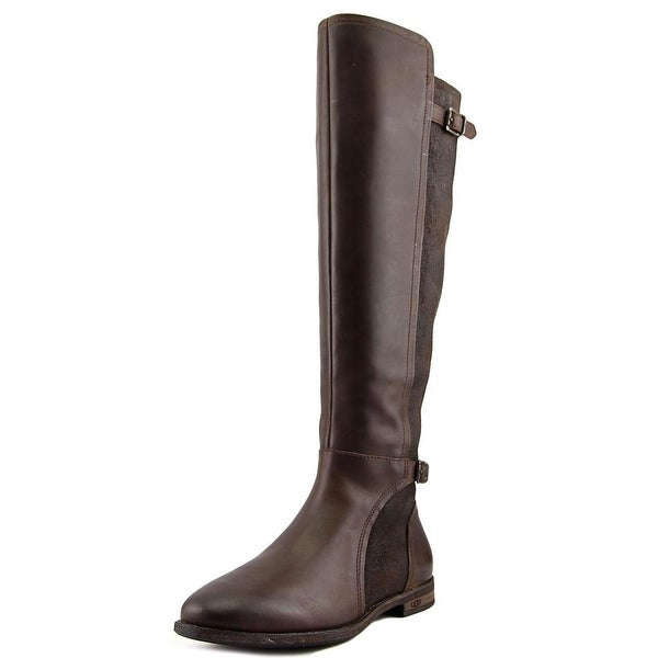 Shop Ugg Australia Danae Plain Toe Leather Knee High Boot
