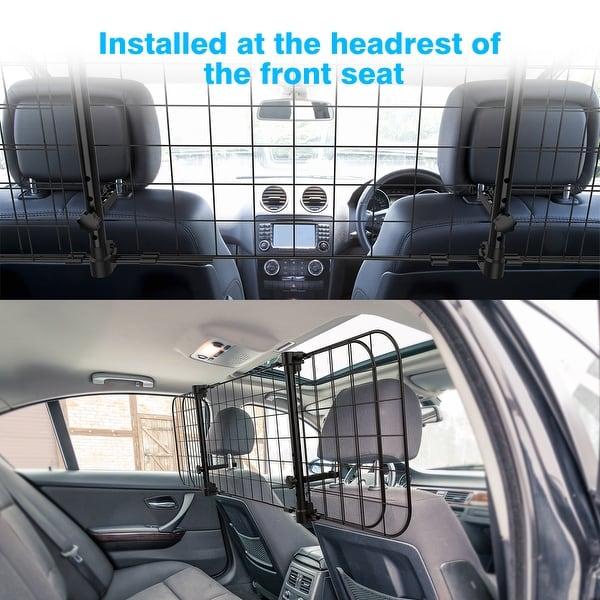 Universal Car Dog Guard Pet Safety Barrier Headrest Travel Adjustable Fence Mesh