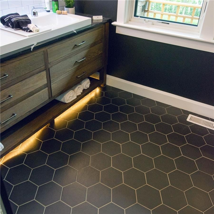 Shop Somertile 7x8 Inch Hextile Matte Nero Porcelain Floor And Wall Tile Overstock 8448805