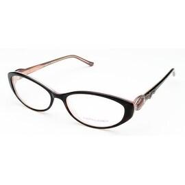 Judith Leiber Women's Radiance Eyeglasses Topaz/Rose - S