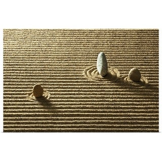 """Zen stone on sand"" Poster Print"