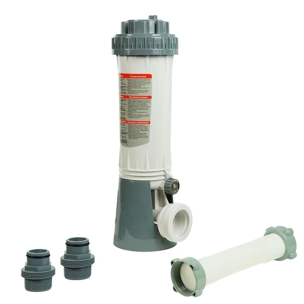 Automatic Swimming Pool Chlorine Feeder Kit with Threaded Nut Hose Connection