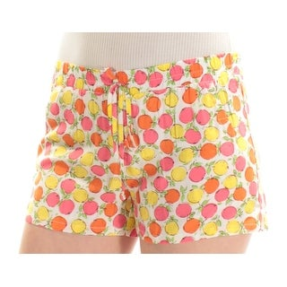 BEBOP $24 Womens New 1659 Pink Yellow Fruit Cropped Casual Short S Juniors B+B