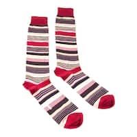 Missoni GM00CMU3197 0002 Red/Pink Striped Knee Length Socks - M