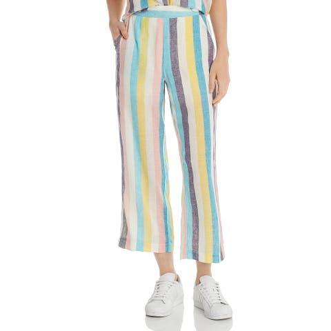 Splendid Womens Wide Leg Pants Striped Stretch - Multi