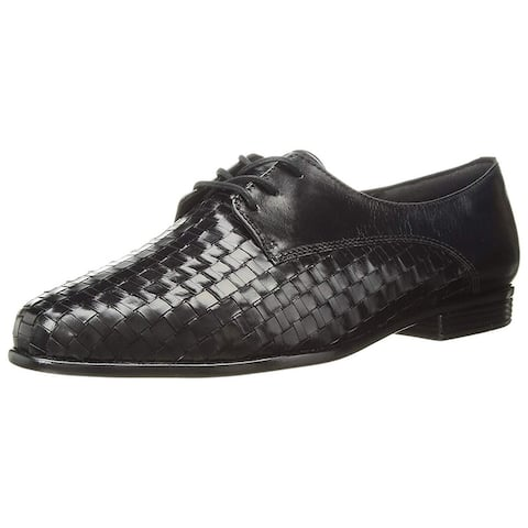 Trotters Womens Lizzie Leather Closed Toe Oxfords