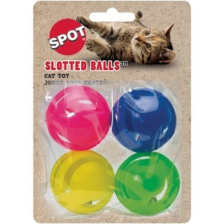 "Assorted - Slotted Balls With Jingle Bells 1.5"" 4/Pkg"