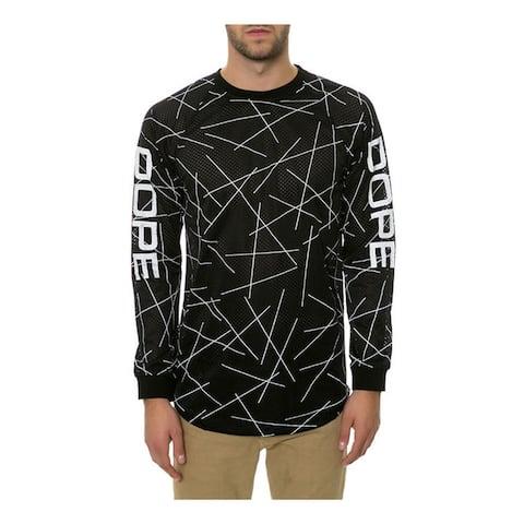 DOPE Mens The Lines MX Jersey, Black, Medium