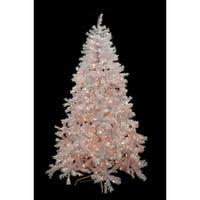 6.5' Pre-Lit White Cedar Pine Artificial Christmas Tree - Clear Lights