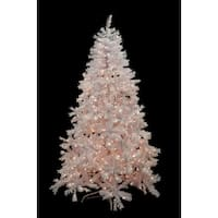 7.5' Pre-Lit White Cedar Pine Artificial Christmas Tree - Clear Lights