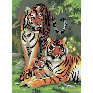 """Junior Small Paint By Number Kit 8.75""""X11.75""""-Tigers"""