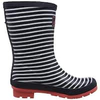 Joules Womens W. Molly Welly Rubber Round Toe Mid-Calf Rainboots