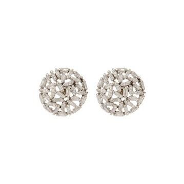 Beautiful Pave Baguette Stud Earring, Baguette Studs in Sterling Silver