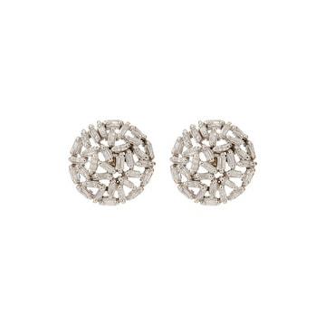 Genuine Diamond Baguette Stud Earring