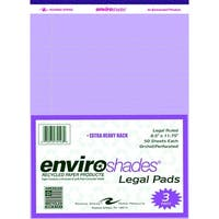 Enviroshades Legal Pad, 8-1/2 x 11-3/4 Inches, Orchid, 50 Sheets, Pack of 3