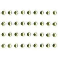 "Lime - Self-Adhesive 3Mm Rhinestone Strips 12"" 4/Pkg"