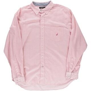 Nautica Mens Slim Fit Pattern Button-Down Shirt