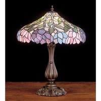 Meyda Tiffany 52135 Stained Glass / Tiffany Table Lamp from the Classic Wisteria Collection - tiffany glass