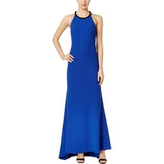 Calvin Klein Womens Formal Dress Embellished Halter