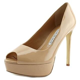 Charles David Nivia Women  Peep-Toe Patent Leather  Heels