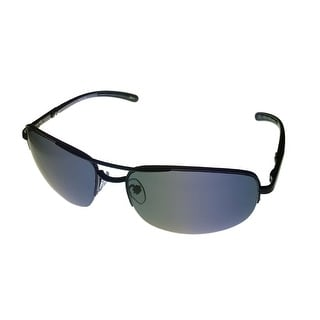 Timberland Sunglass Black Rimless Metal Aviator, Solid Smoke Lens TB7113 2A - Medium