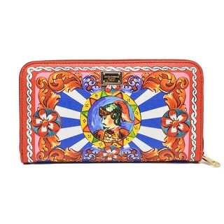 Dolce & Gabbana Carretto printed textured-leather continental wallet